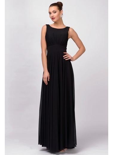 İroni Uzun Abiye Elbise Siyah